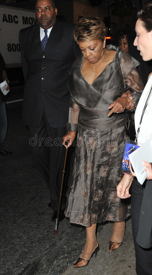 Cissy Houston. (mother of the late Whitney Houston) at the world premiere of Whitney's last movie 'Sparkle' at Grauman's Chinese Theatre, Hollywood. August 16 stock photo