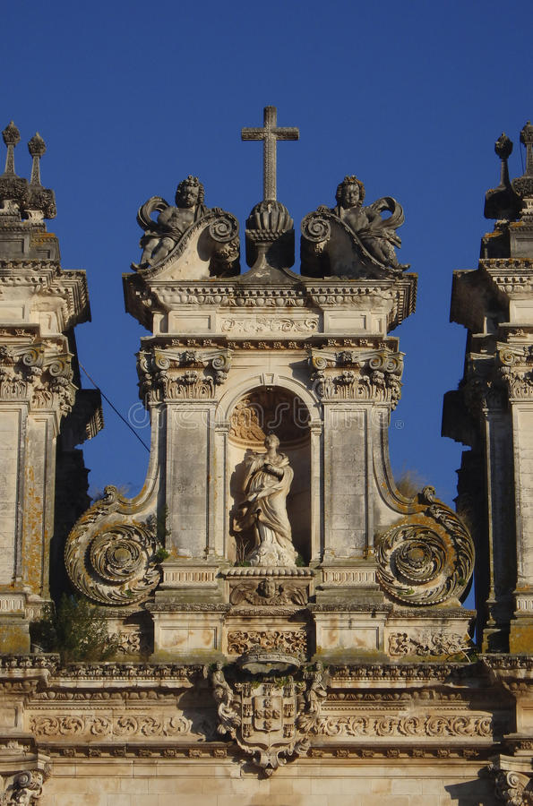 Cisterciënzer klooster in Alcobaça Portugal stock afbeelding