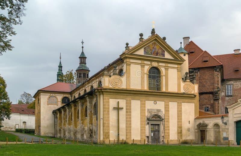 Cistercian修道院, Plasy,捷克共和国 免版税库存图片