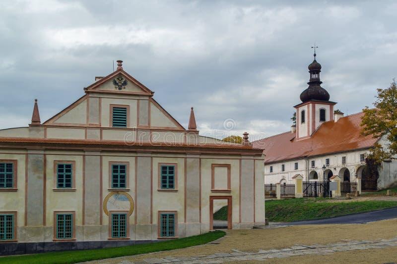 Cistercian修道院, Plasy,捷克共和国 免版税图库摄影