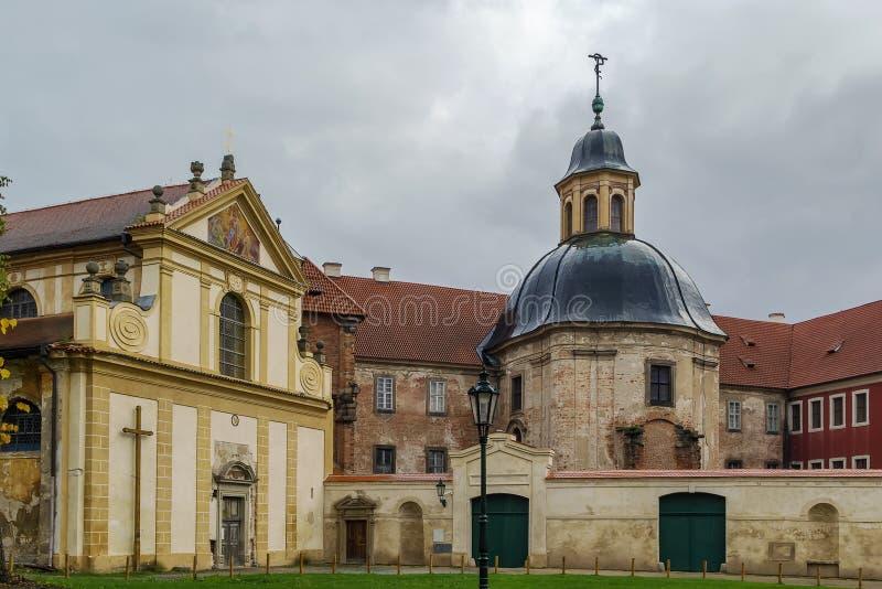 Cistercian kloster, Plasy, Tjeckien arkivbilder