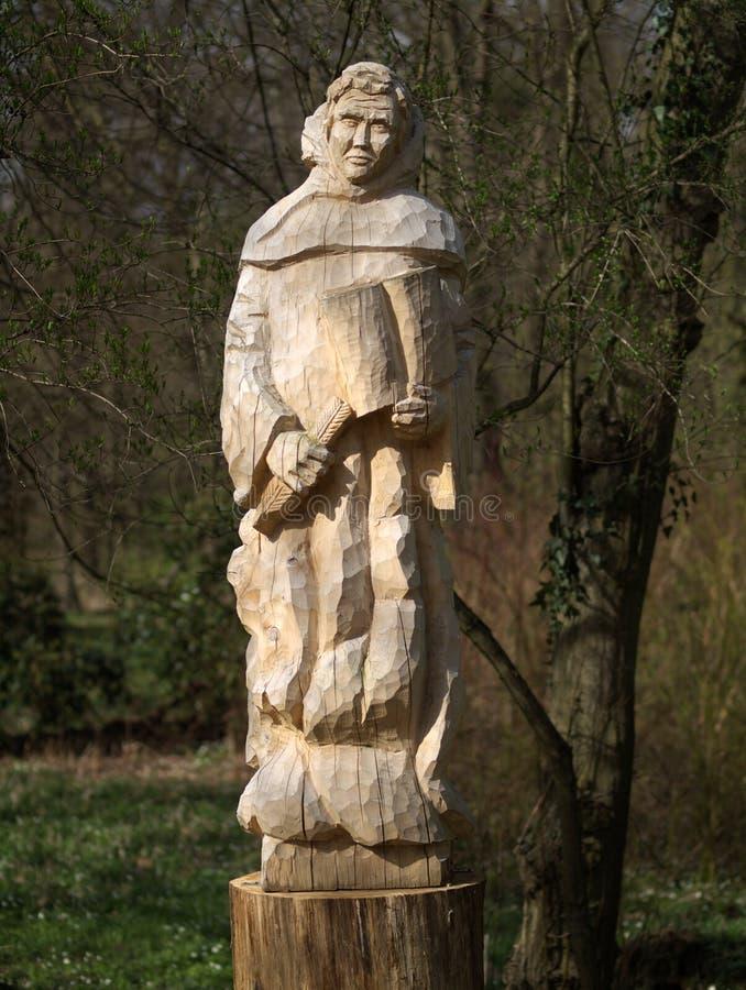 cisterican skulptur för monk s arkivbilder
