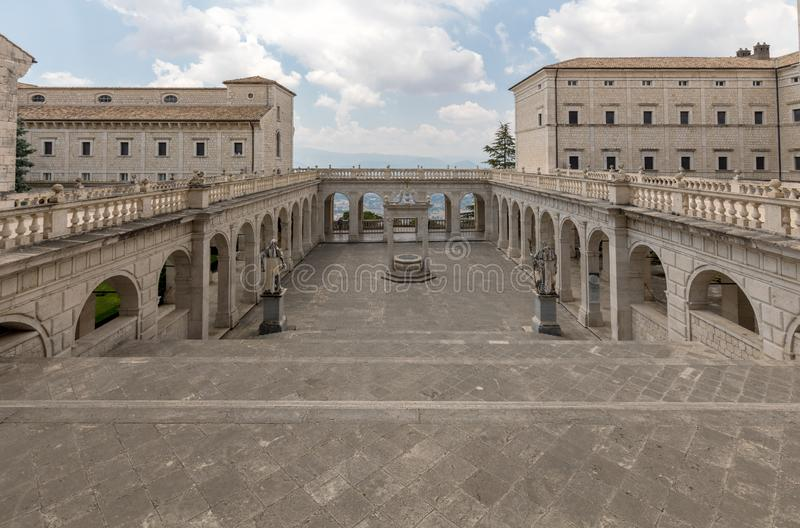 Cistern in the Cloister of Bramante, Benedictine abbey of Montecassino stock images