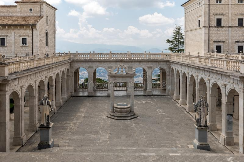 Cistern in the Cloister of Bramante, Benedictine abbey of Montecassino royalty free stock photography