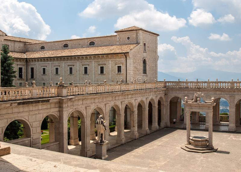 Cistern in the Cloister of Bramante, Benedictine abbey of Montecassino. stock image