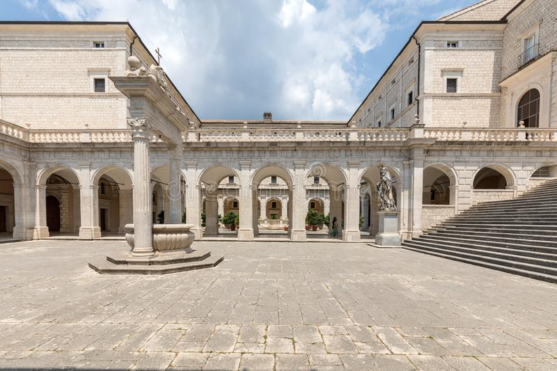 Cistern in the Cloister of Bramante, Benedictine abbey of Montecassino. stock photography
