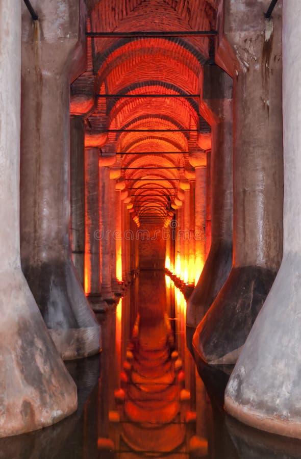 Cisterna 02 da basílica fotografia de stock