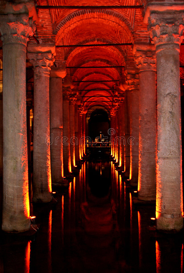 Cisterna da basílica fotografia de stock royalty free