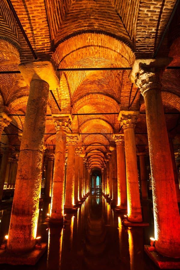 Cisterna da basílica imagem de stock