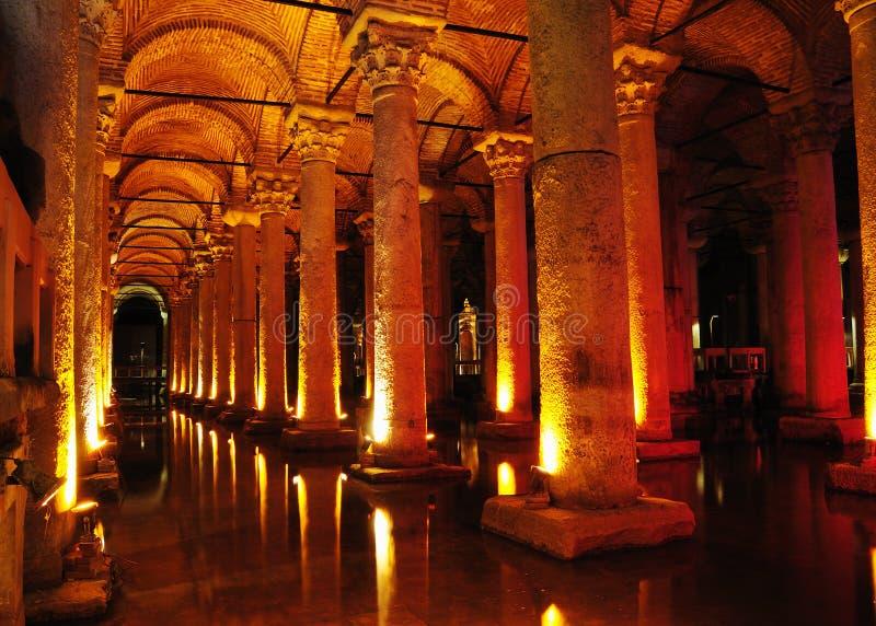Cisterna da basílica em Istambul. fotos de stock