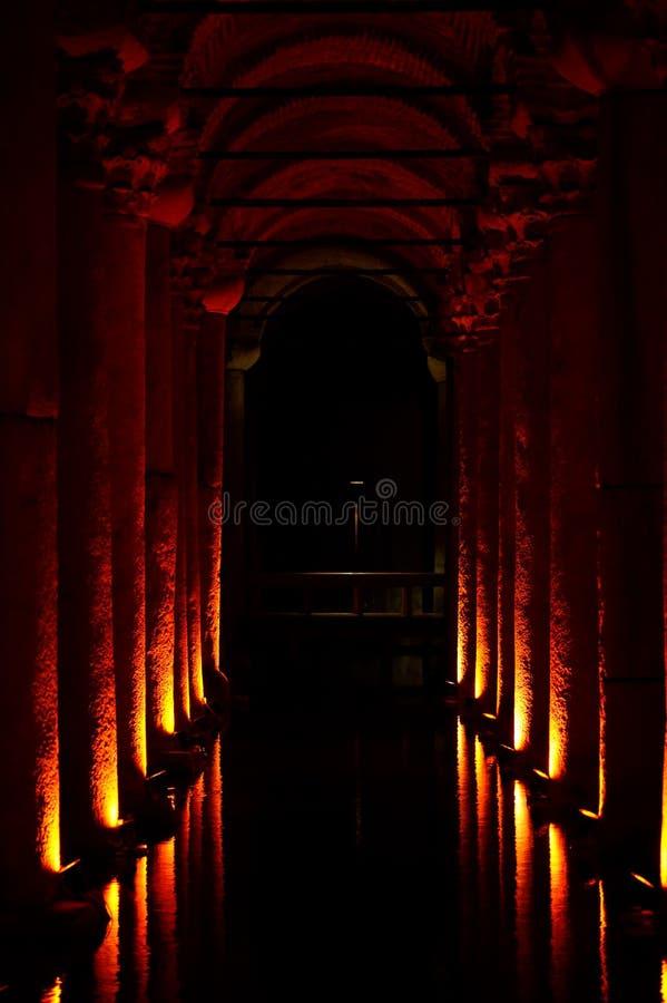 Cisterna da basílica, Istambul, Turquia imagens de stock