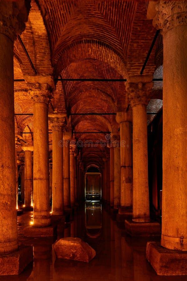 Cisterna de la basílica - Yerebatan Sarnici fotografía de archivo