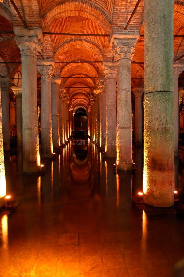 Cisterna de Yerebatan Saray imagem de stock