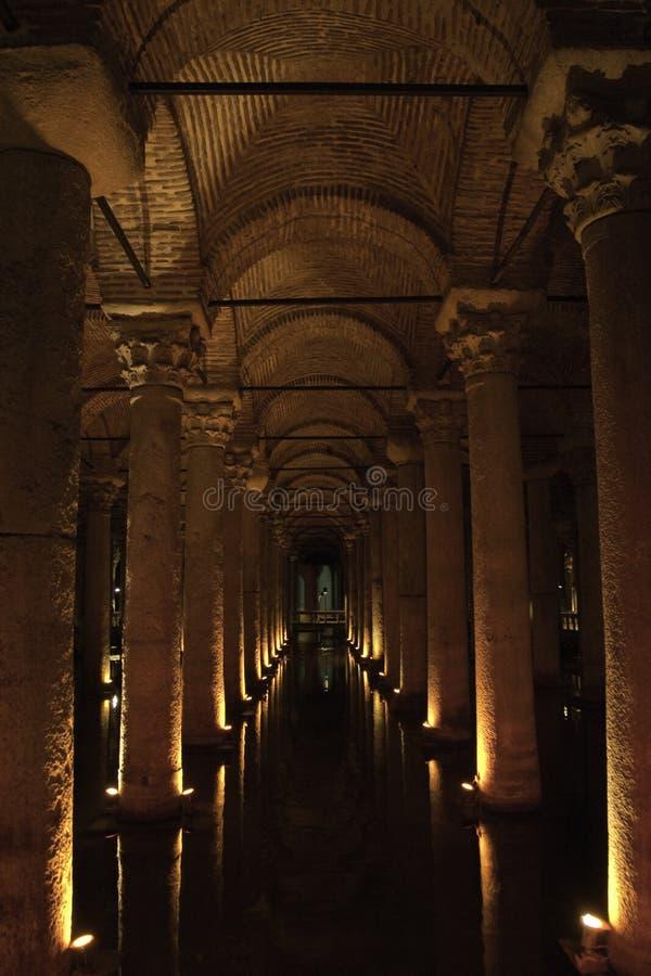 Cisterna della basilica a Costantinopoli immagine stock libera da diritti