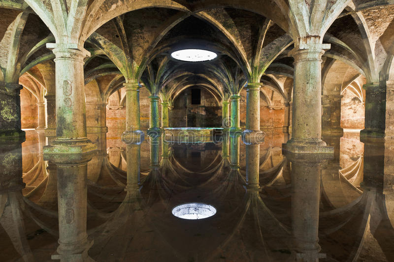 Cisterna em EL-Jadida, Marrocos de Manueline fotos de stock royalty free