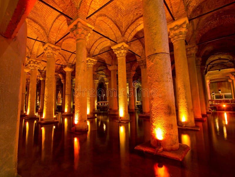 Cisterna Istambul da basílica, Turquia fotos de stock royalty free