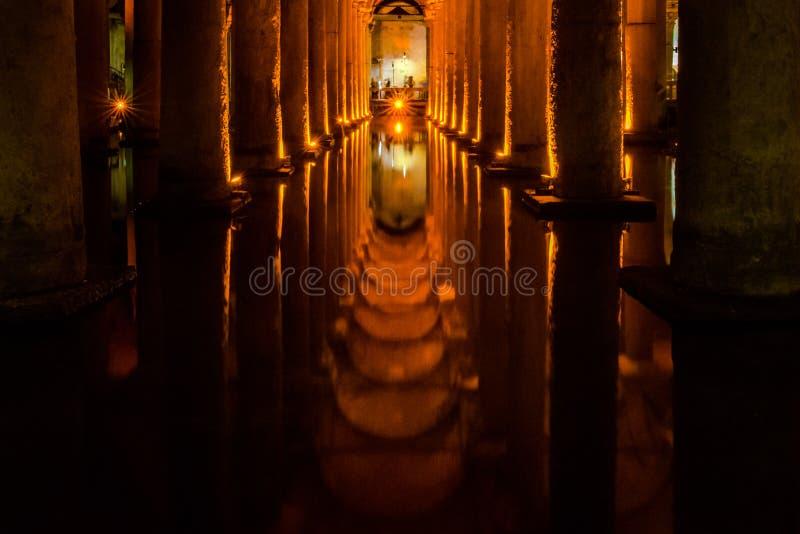 Cisterne sotterranee di Costantinopoli immagini stock libere da diritti