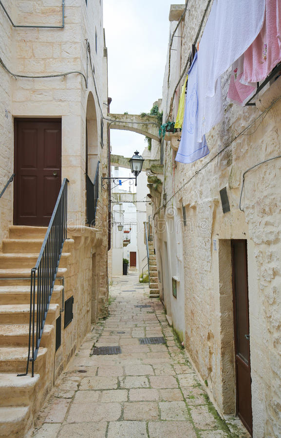 Cisternino in Puglia, South Italy stock photo