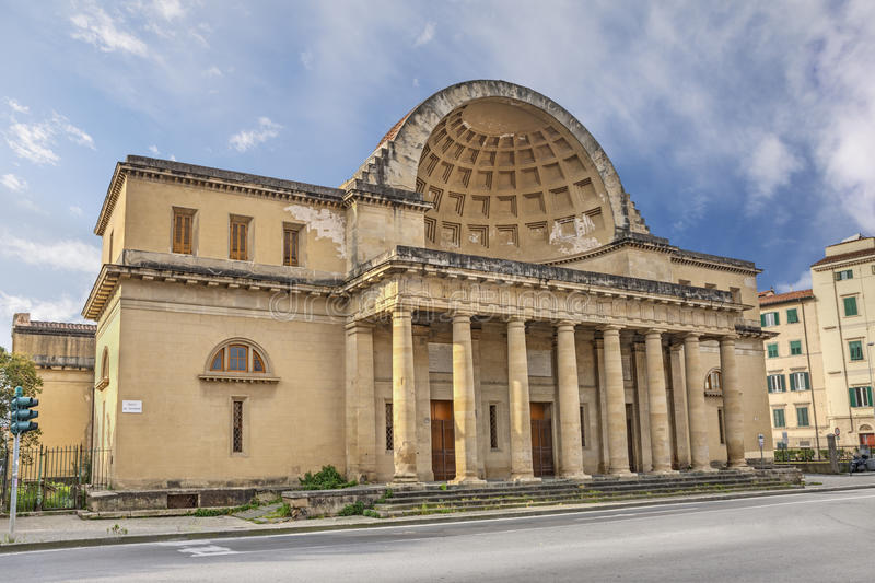 Cisternone in Livorno, Tuscany, Italy. Is a monumental neoclassical water tank built about 1830, with columns and semi-dome on facade royalty free stock image