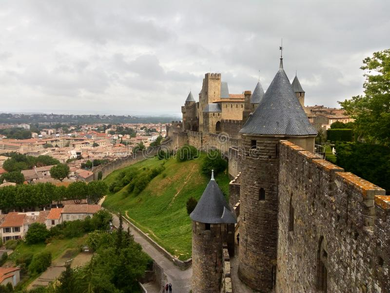 Cité De Carcassonne images stock