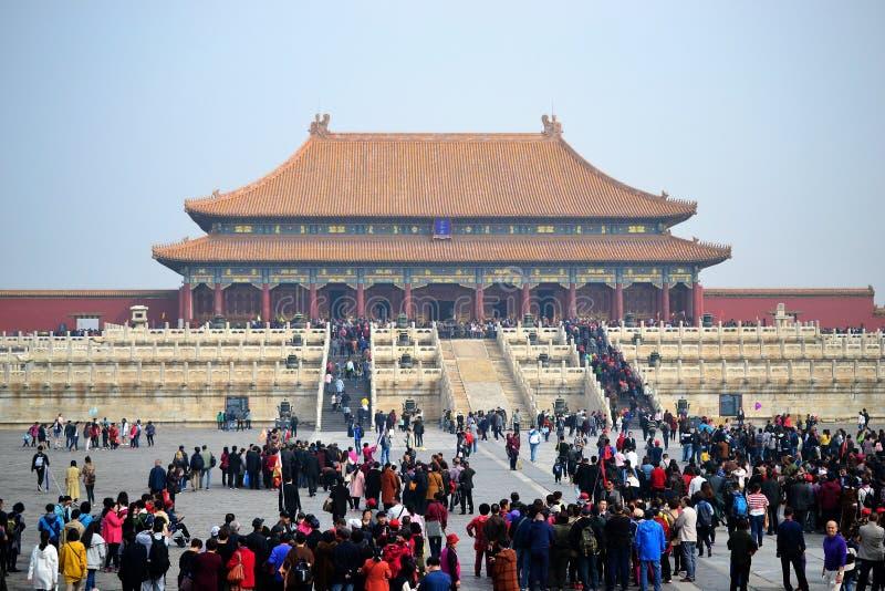 Cité interdite, gugong, architecture de chinois traditionnel dans Pékin, CHINE images stock