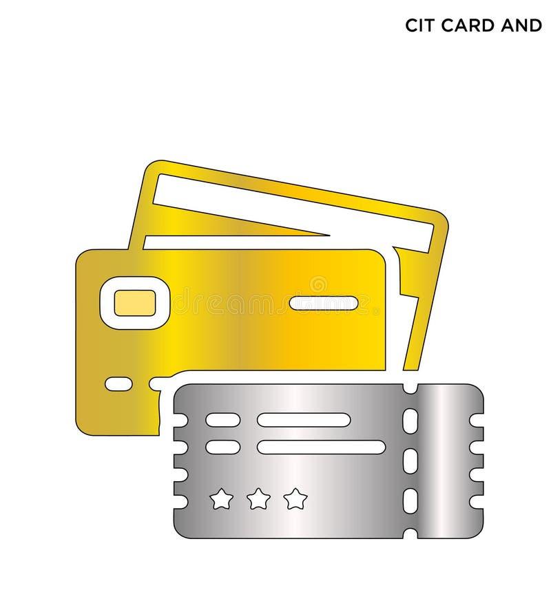 Cit editable σχέδιο συμβόλων εικονιδίων καρτών & εισιτηρίων στοκ φωτογραφίες