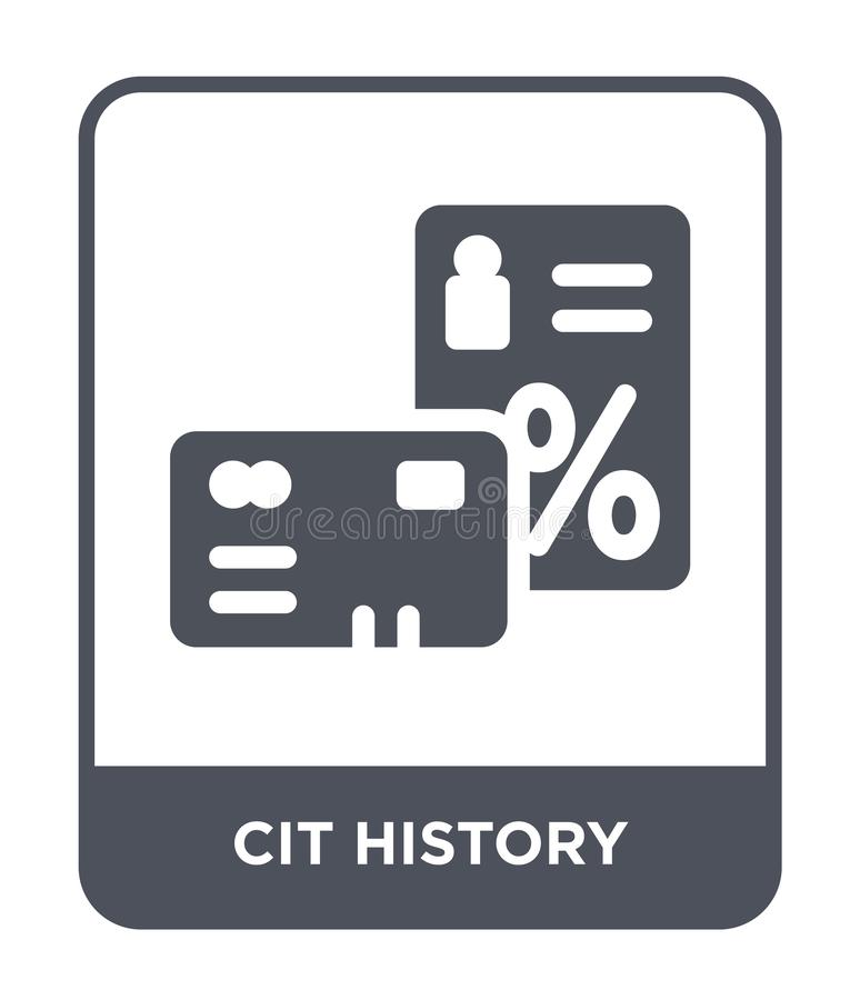 cit history icon in trendy design style. cit history icon isolated on white background. cit history vector icon simple and modern vector illustration