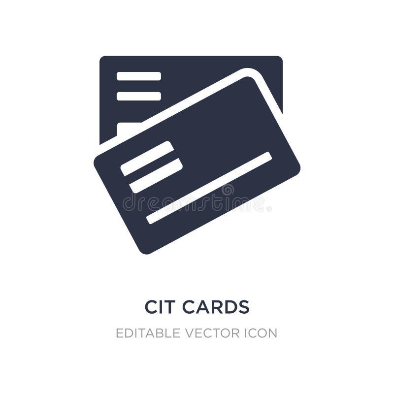 CIT-kaartenpictogram op witte achtergrond Eenvoudige elementenillustratie van Algemeen concept royalty-vrije illustratie