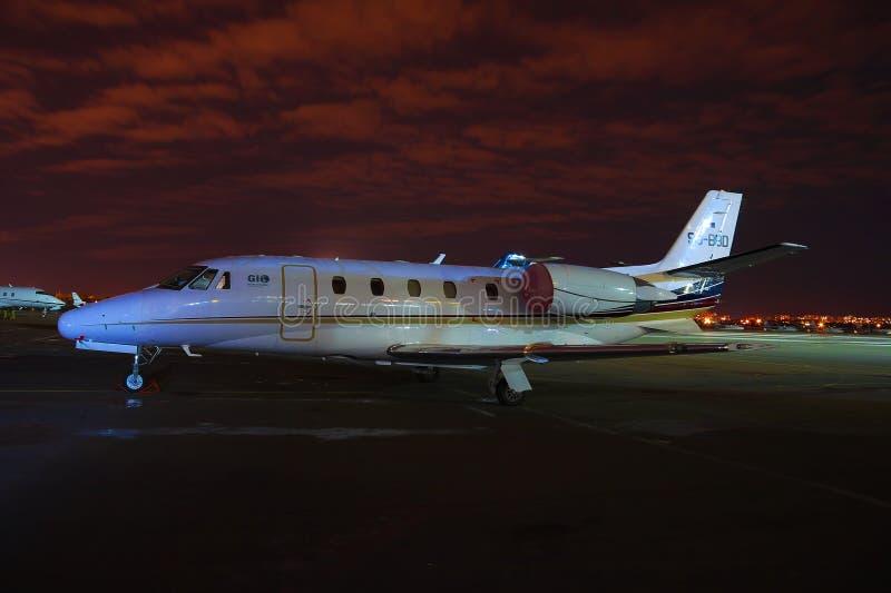 Citação Exel de Cessna 560XL foto de stock