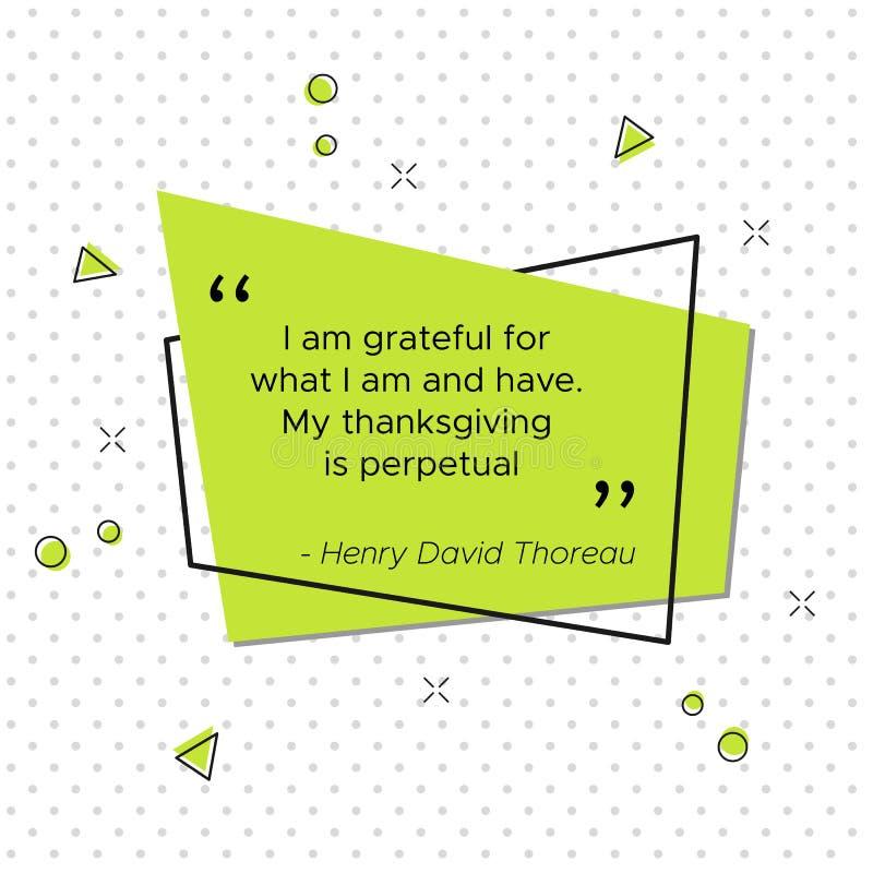 Citações de Henry David Thoreau, poeta americano ilustração do vetor