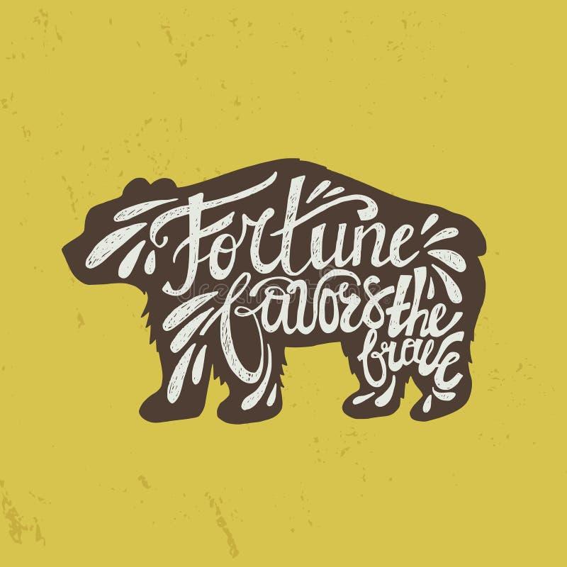 Citações do urso ilustração stock