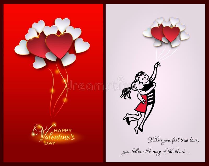 Citações inspiradas sobre a vida e o amor Quando você sentir o amor verdadeiro, ilustração royalty free