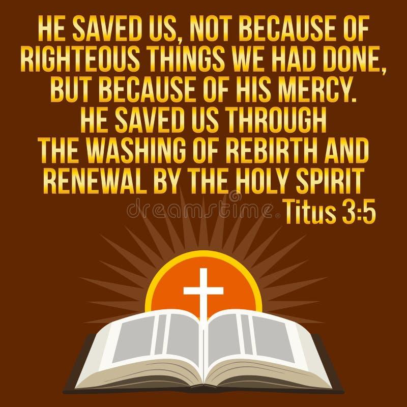 Citações inspiradores cristãs Verso da Bíblia Sol transversal e brilhando ilustração stock