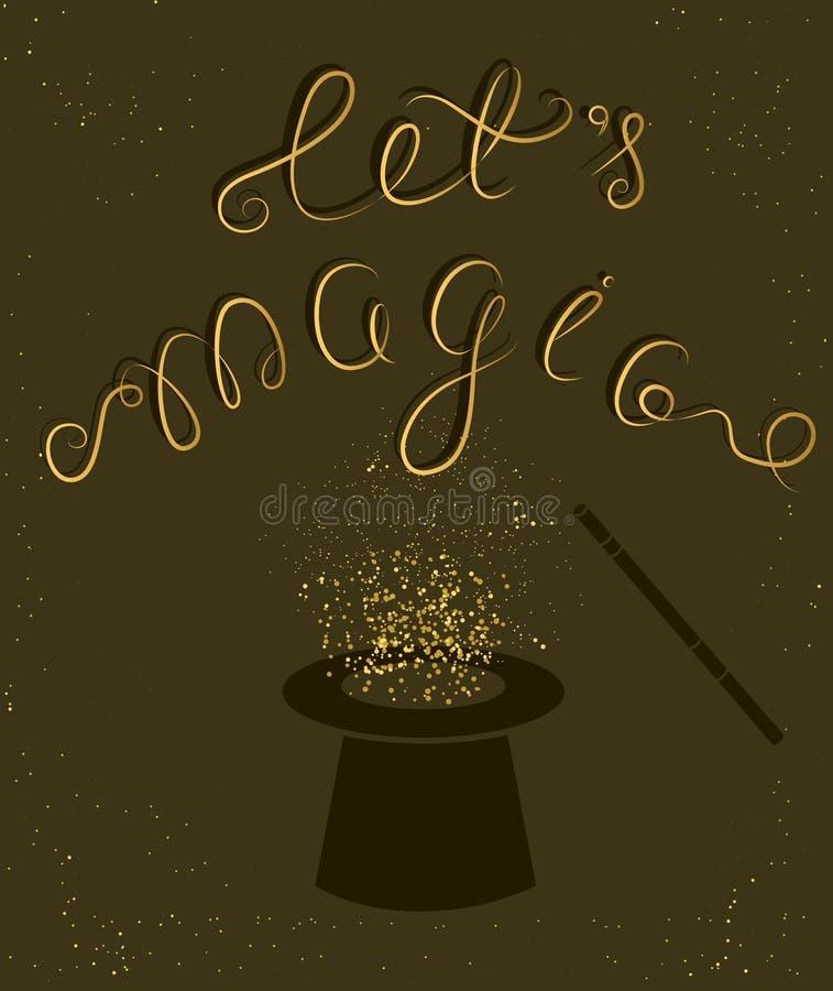 Citações mágicas de Let's ilustração do vetor