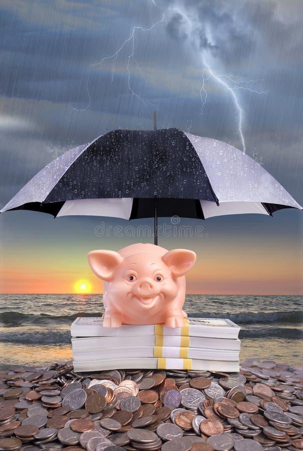 Citações ou expressão, salvar por um dia chuvoso fotos de stock royalty free