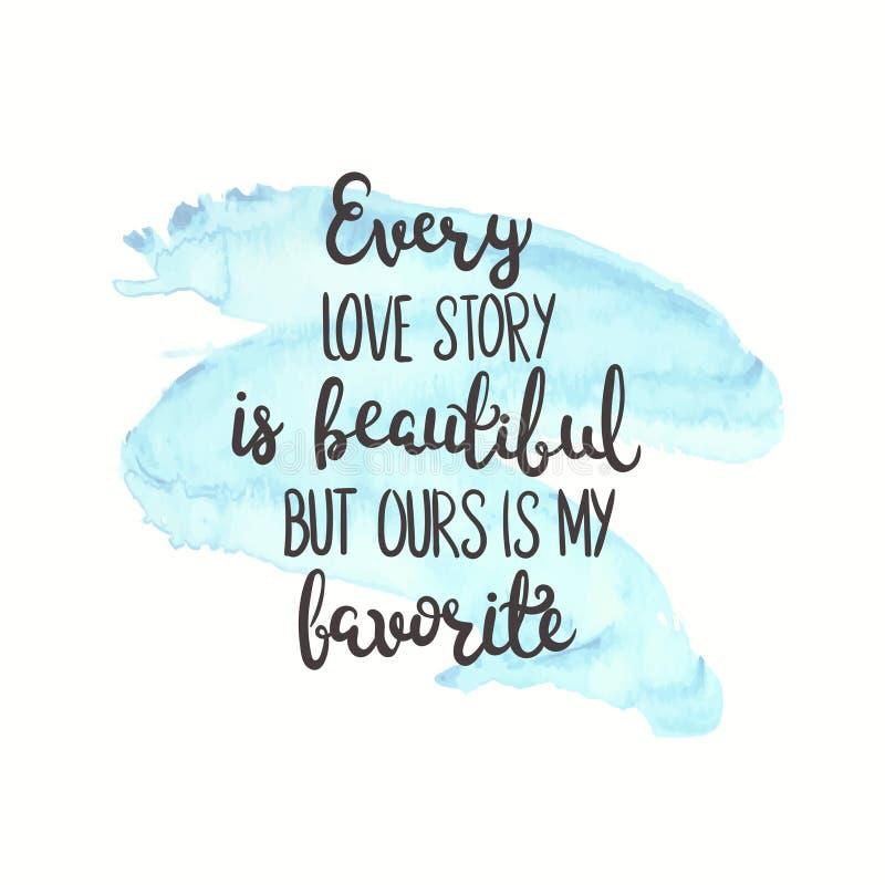 Citações românticas Texto do amor para o dia de são valentim Projeto de cartão Ilustração do vetor para a cópia Fundo da aguarela ilustração do vetor