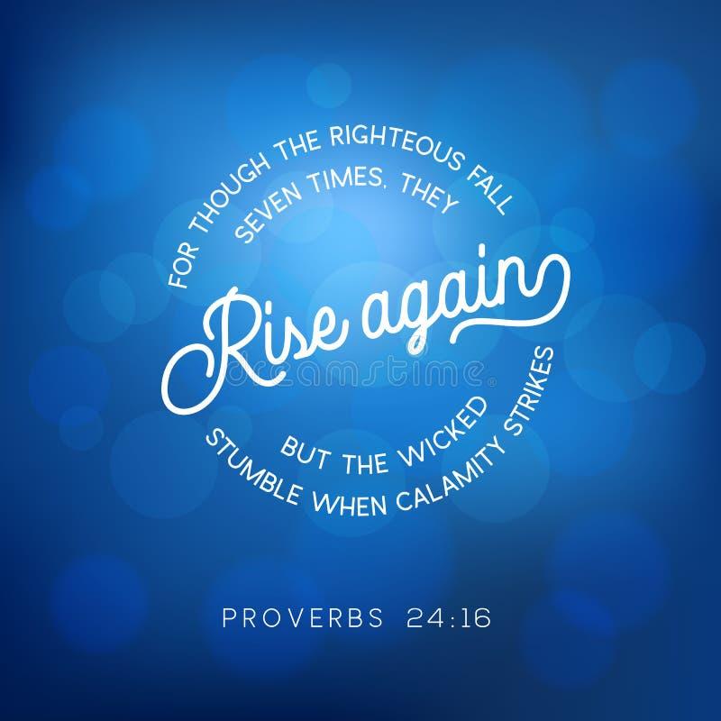 Cita de la biblia de proverbios stock de ilustración