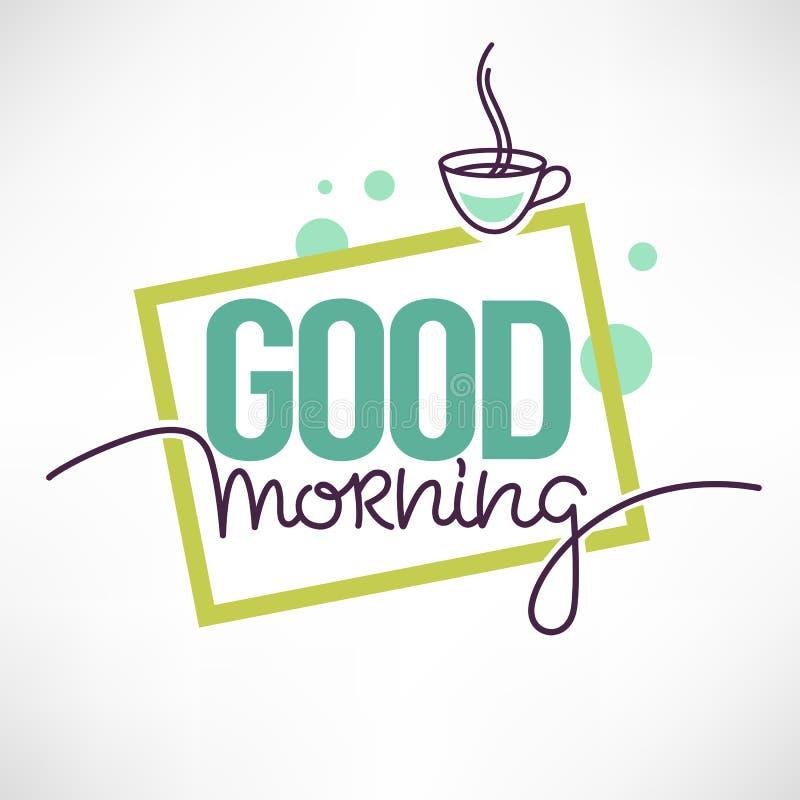 Cita de la buena mañana para usted medios accaunt social con la imagen del co ilustración del vector