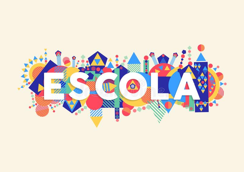 Cita de la educación escolar en lengua portuguesa libre illustration