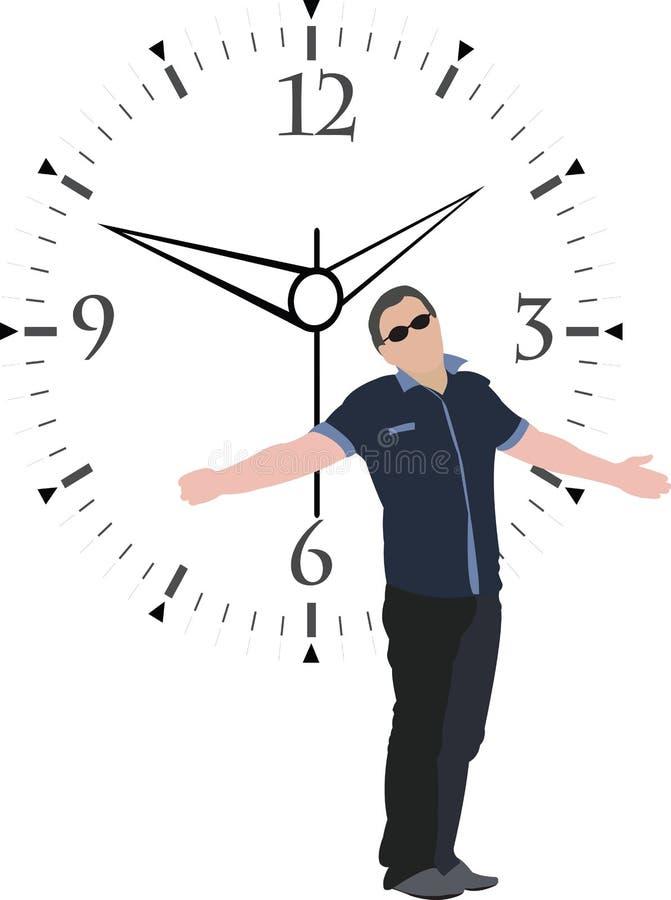 Cita de la impaciencia stock de ilustración