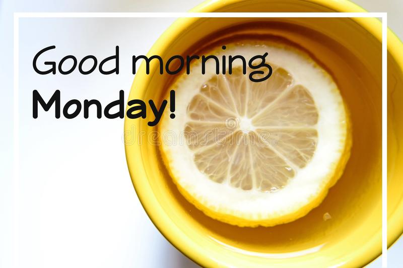 Cita de la motivación de lunes de la buena mañana foto de archivo libre de regalías