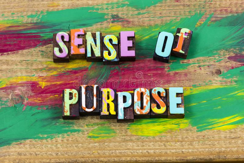 Cita de la prensa de copiar de la dirección de la forma de vida de la vida de la prioridad del propósito del sentido imágenes de archivo libres de regalías