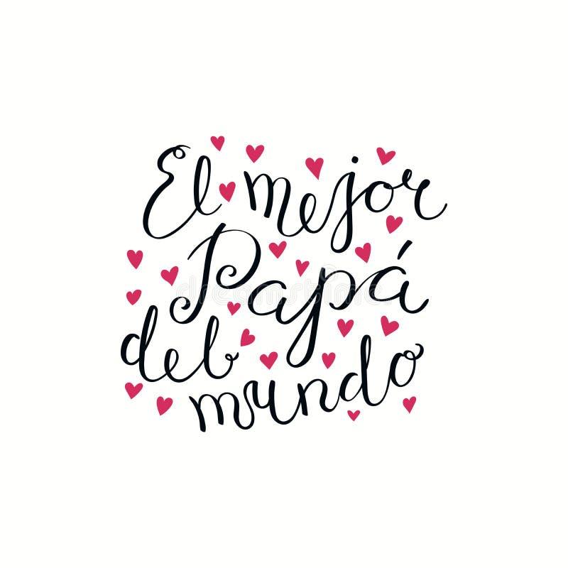 Cita de las letras de día de padres en español libre illustration