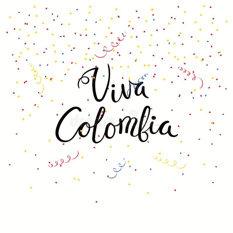 Cita de las letras de Viva Colombia ilustración del vector