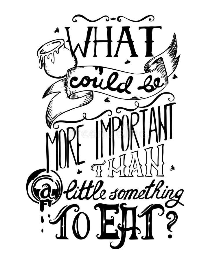 Cita del cartel de la tipografía con las letras dibujadas mano y los elementos decorativos Para qué podría ser más importante que libre illustration