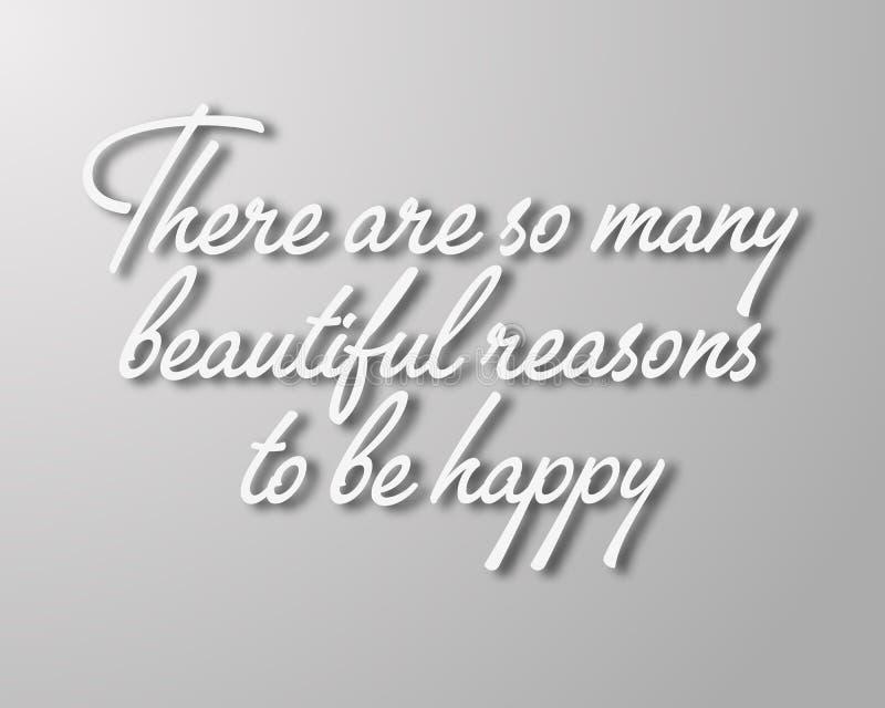Cita del vector con el lema del diseño del tipography para las tarjetas y los carteles de felicitación Hay tan muchas razones her fotografía de archivo