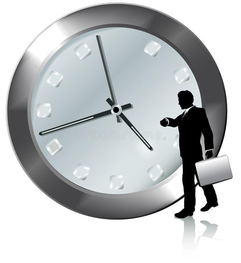 Cita en el reloj de los relojes de la persona del asunto del tiempo ilustración del vector