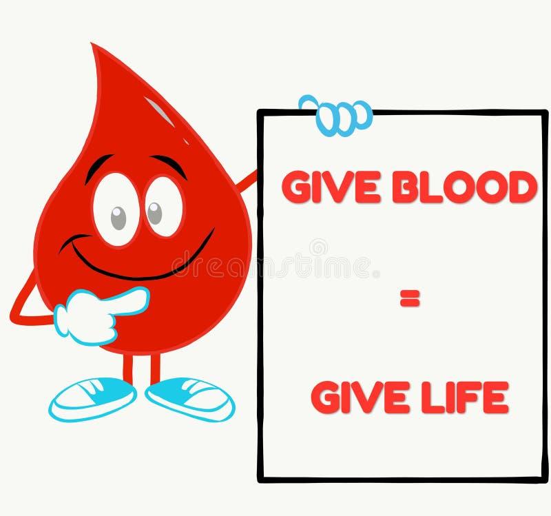 cita inspirada perfecta de la donación de sangre ilustración del vector