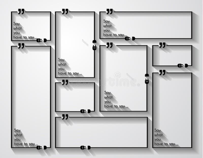 Cita Mark Frame con estilo plano y espacio para el texto ilustración del vector