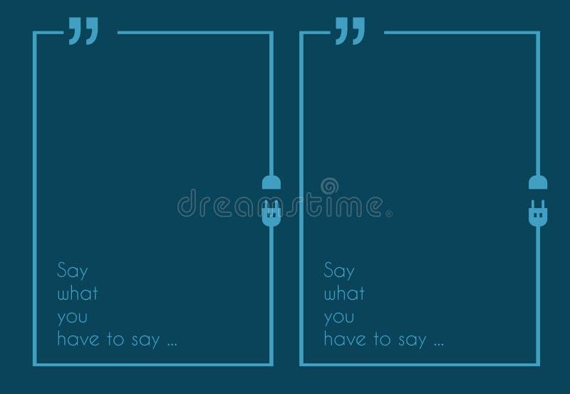 Cita Mark Frame con estilo plano y espacio para el texto libre illustration